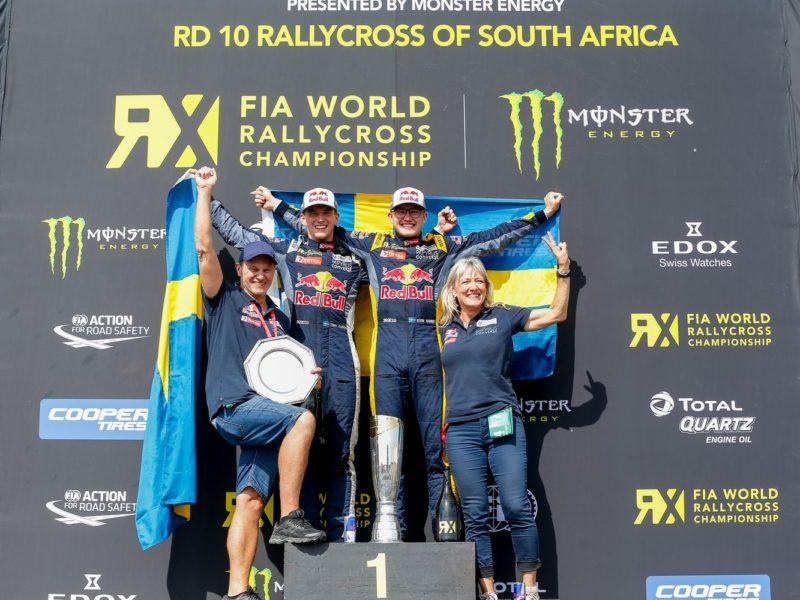 Niklass Gronholms uzvar Dienvidāfrikā, Timijs Hansens izcīna pasaules čempiona titulu